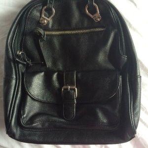 Madden girl black backpack silver